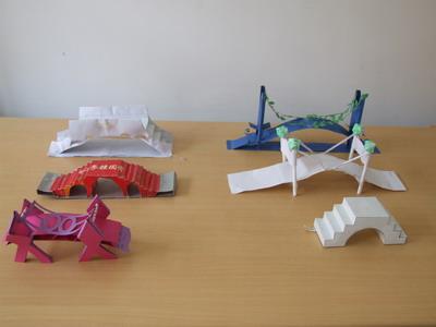 记科技节纸桥模型比赛